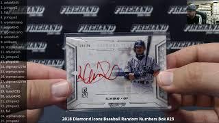 9/21/2018 2018 Diamond Icons Baseball Random Numbers Box #23