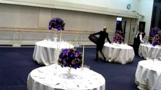 A timelapse of a Royal Ballet studio being set up for an evening event