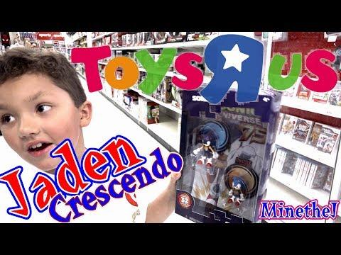 TOYS R US Shopping!!! Minecraft, Classic Sonic, Batman, Youtube Heros Unboxing MinetheJ Kid Gamer