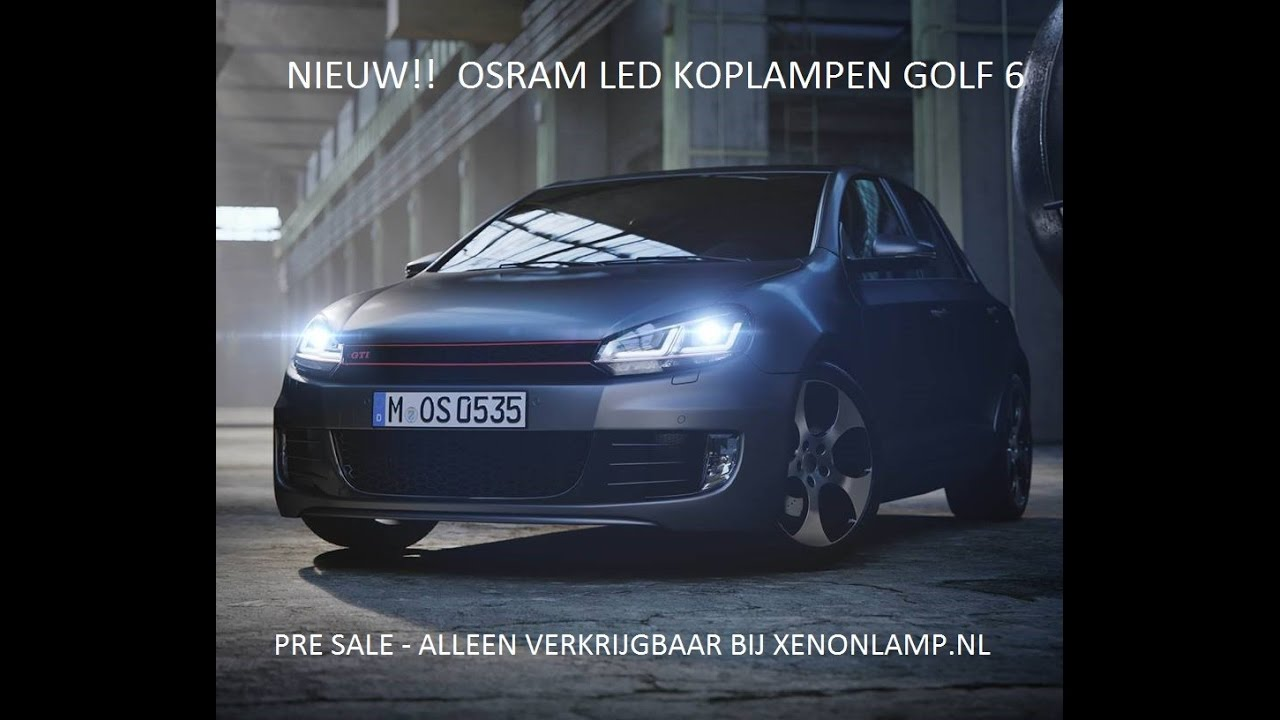osram led koplamp golf 6 youtube. Black Bedroom Furniture Sets. Home Design Ideas