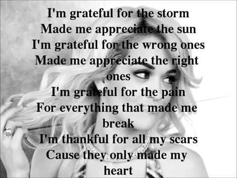 Rita Ora-Grateful Lyrics Video
