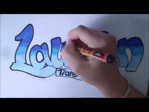 Lauren Bubble Letters Name Art Wwwpicswecom