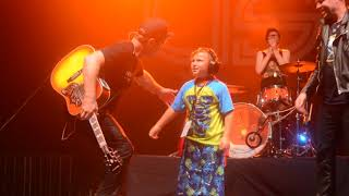 U.S.S. Brings  6 Year old on Stage To Dance With The Band