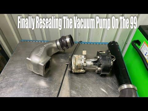 How To Reseal A Stock Vacuum Pump 94 02 Dodge Cummins 5 9l Youtube
