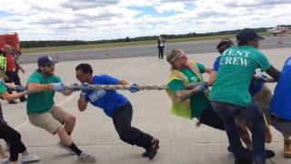MassPort's Plane Pull for Autism at Worcester Regional Airport