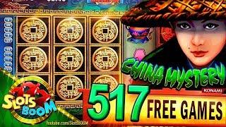 LONG PLAY 517 Spins  CHINA MYSTERY BIG WIN!!! 2c Konami Video Slot