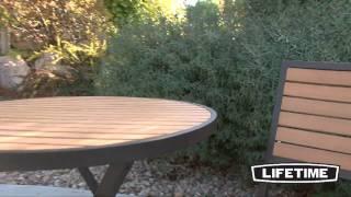 Lifetime Simulated Wood Bistro Set (model 60074)