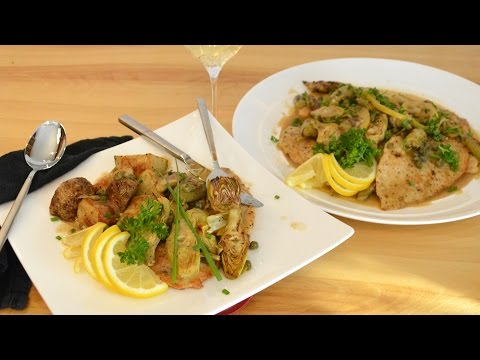 Artichoke Chicken Piccata | Low Carb | Low Fat | Low Glycemic