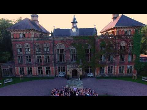Soughton Hall Drone Wedding footage