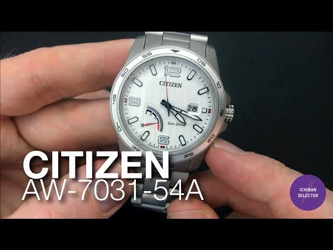 Citizen AW-7031-54A Racing Aerospace White Eco-Drive Titanium Style Watch Review