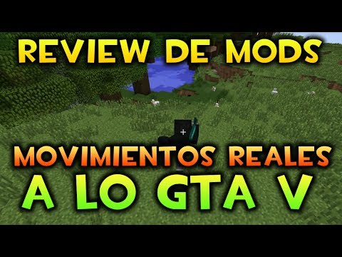 "Minecraft: Review - ""Movimiento Real A Lo Gta V- Mo Bends Mod "" Descarga En La Descripcion! [1.7.2]"