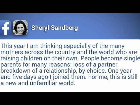 Facebook's Sheryl Sandberg reflects on Mother's Day as ... Sheryl Sandberg Mother S Day Post