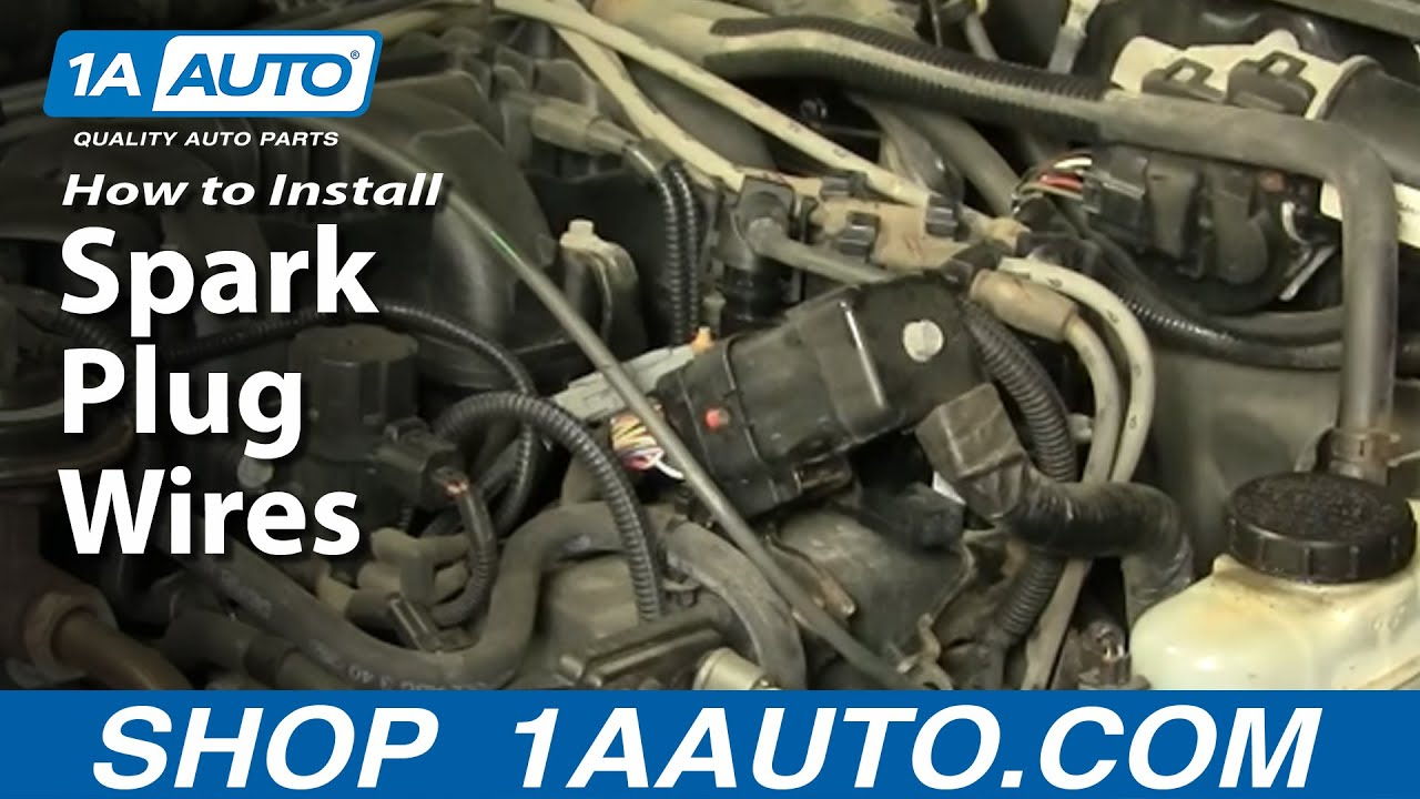 maxresdefault how to install replace spark plug wires 1aauto com youtube 2002 ford explorer spark plug wire diagram at fashall.co