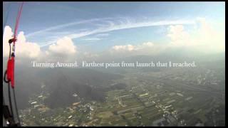 Paragliding: Puli, Taiwan, October 2011