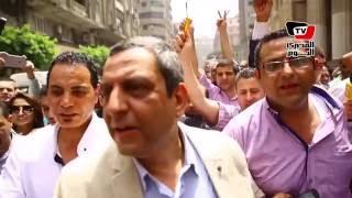أول تعليق لـ«قلاش والبلشي» بعد خروجهم من محكمة عابدين