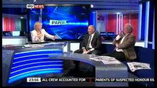 Anna Botting Looses it Live on Sky News