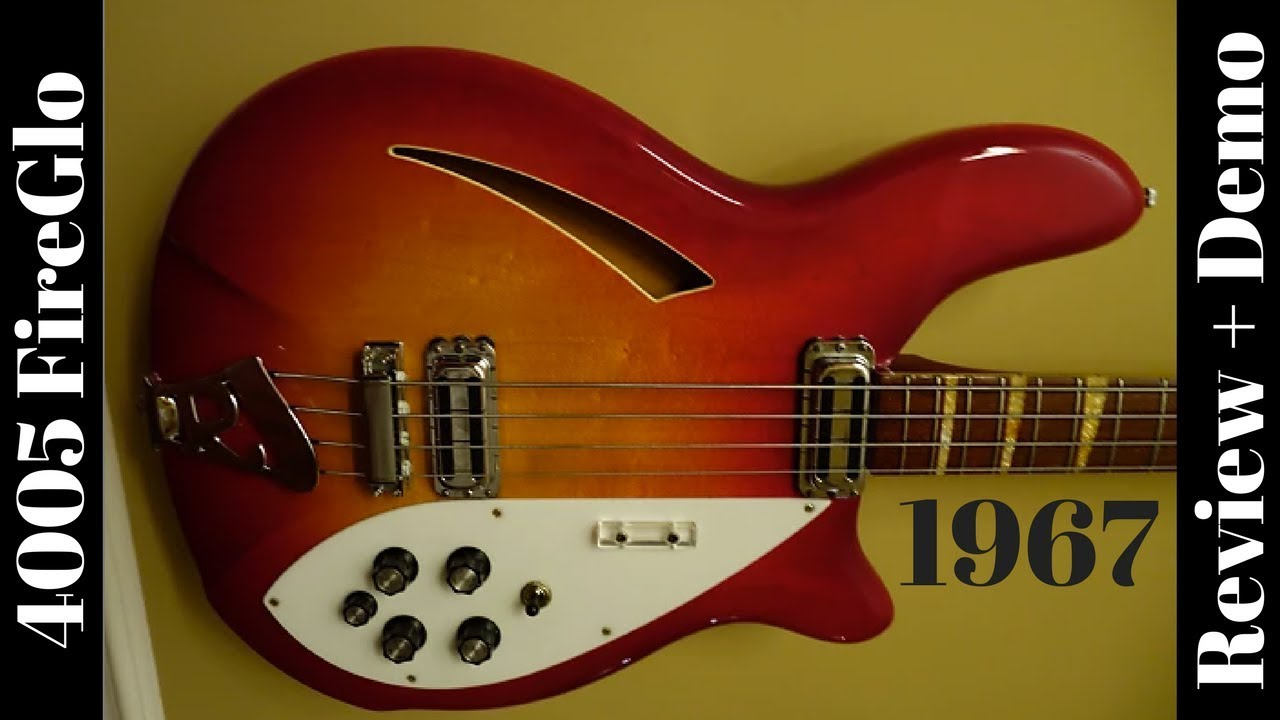 1967 Rickenbacker 4005 Fireglo Semi Hollow 4 String Bass