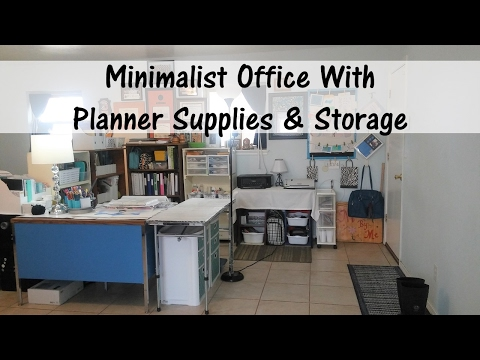 Minimalist Office With Planner Supplies & Storage