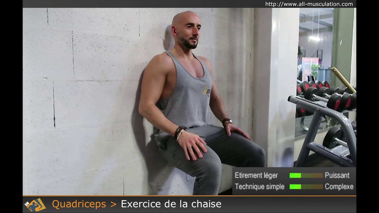 Exercice de la chaise musculation des quadriceps par all musculation youtube - La chaise exercice musculation ...