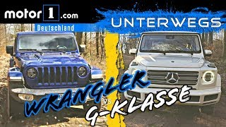 Mercedes G-Klasse vs. Jeep Wrangler | UNTERWEGS mit Daniel Hohmeyer