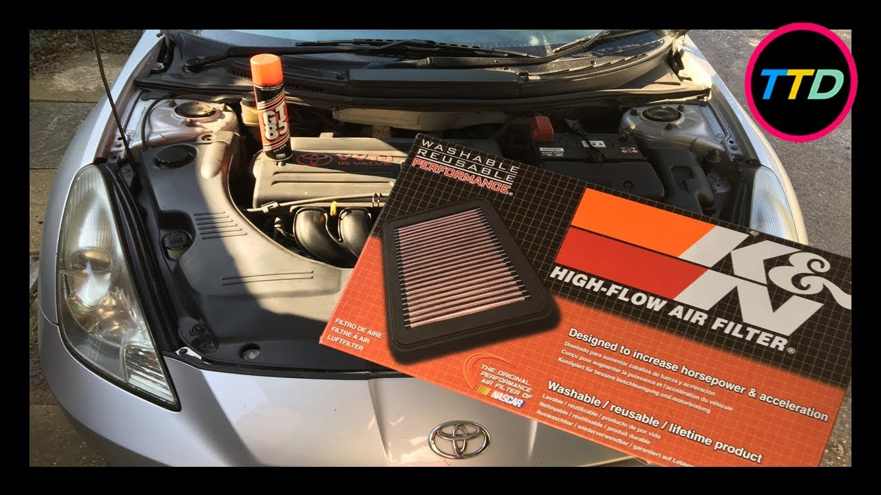 hight resolution of toyota celica k n air filter change