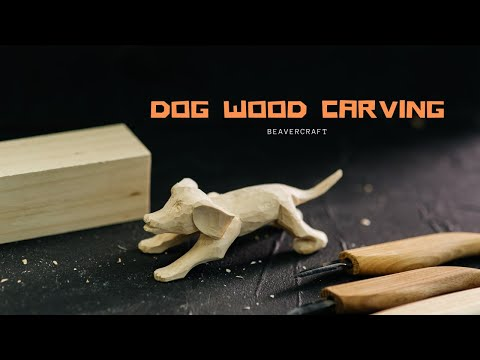 Wood Carving Projects - Dog Wood Carving