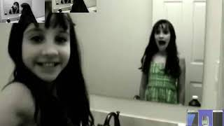 [Ghost/Demonic Warning] Creepy Grudge Ghost Girl in the Mirror! (Sparta Demonic Hell Remix)