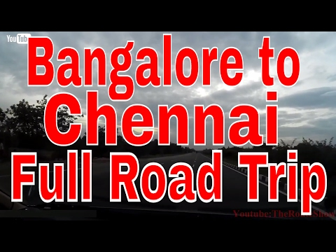 Drive to Chennai from Bangalore(via.Krishnagiri, Vellore),Full Road Trip | Full HD video