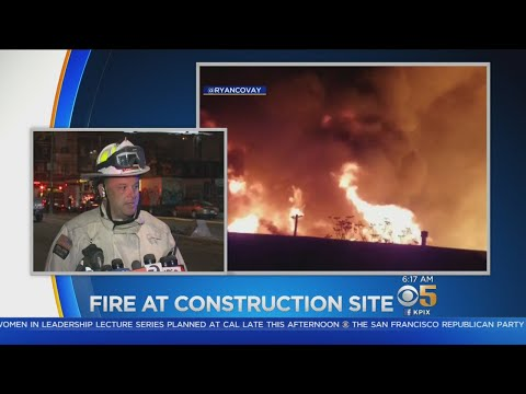 Oakland Fire Department Briefing On Suspicious Construction Site Fire