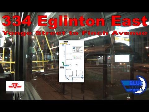 334 Eglinton East - TTC 2004 Orion VII 7511 (Yonge Street to Finch Avenue)