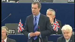 Farage exposes EU arrogance (puts Sarkozy, Pottering & Schulz in place)