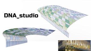 ArchiCAD 18. Навесная стена + морф