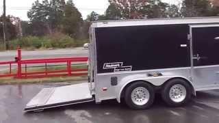 7 x 12 Black Haulmark Low Rider Enclosed Cargo Motorcycle Trailer