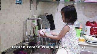 Morning Routine Lifia Niala (Rajin Bersih Bersih, Cuci Piring) - Anak Indonesia Hebat