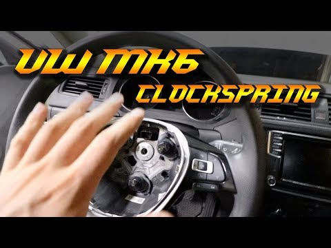 How to Replace a VW Volkswagen Clock Spring – MK6 Jetta or Golf