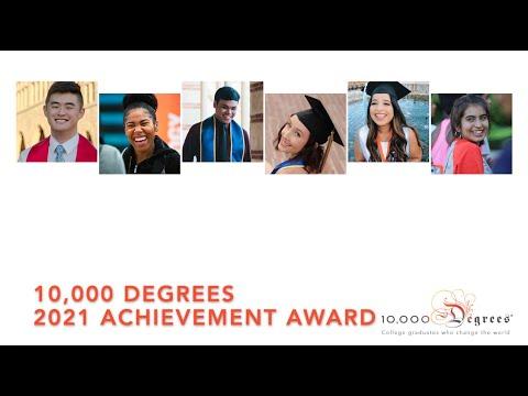 10,000 Degrees Achievement Award 2021 - Tomales High School