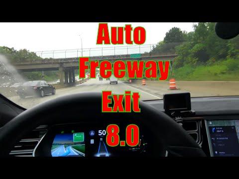 TESLA: Firmware 8 Auto Freeway Exit   Part 2