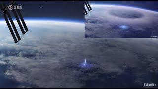 """La Estación Espacial Internacional captó un """"chorro azul"""" en cuestión de segundos"""
