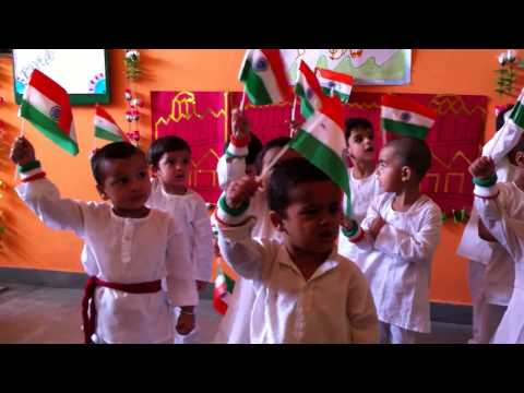 Kids celebrated Indepence day in Lilliput Joyland pre school