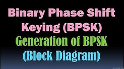 Binary Phase Shift Keying (BPSK) Generation Block Diagram/PSK Modulation Generation/Modulation [HD]