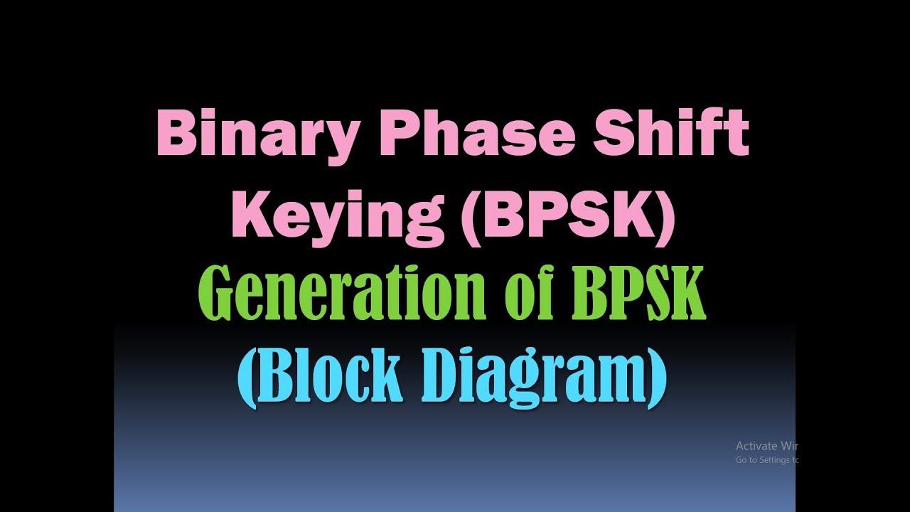Binary Phase Shift Keying Bpsk Generation Block Diagram Psk Generator Modulation Hd