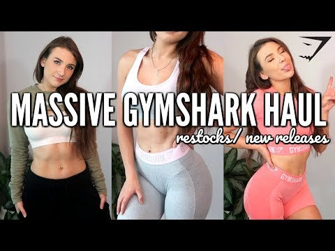 GYMSHARK NEW RELEASE / RESTOCK HAUL | MASSIVE Activewear/Gym Clothes NO BS Review/ Try On