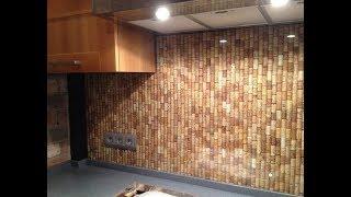 ★ Стена из винных пробок своими руками - одна из самых креативных идей декора для кухни
