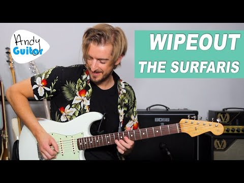 WIPEOUT Guitar Lesson (Surfaris/ Ventures) How to Play