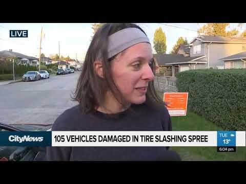 Tire Slashing Spree in Burnaby