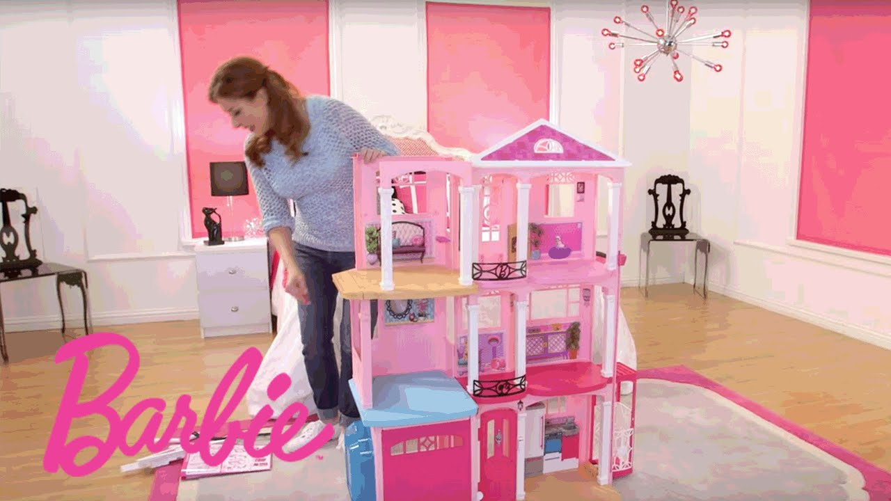 maxresdefault barbie� dreamhouse� step by step assembly video barbie youtube Barbie Dreamhouse at bayanpartner.co