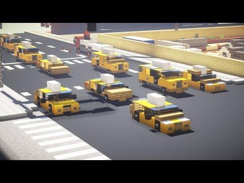 Minecraft NYC Taxi Cab Car Tutorial