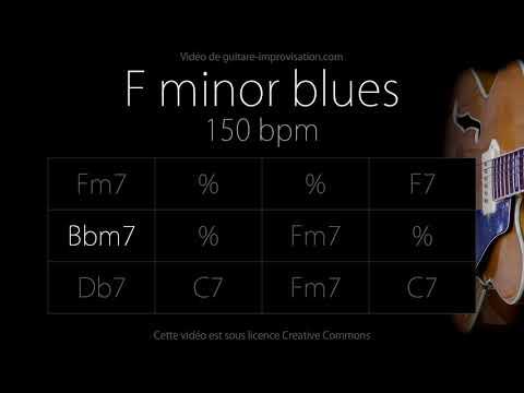 F Minor Blues (Jazz/Swing Feel) 150 Bpm : Backing Track