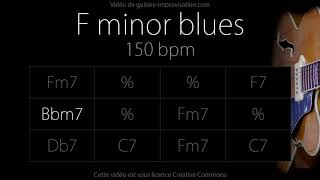 Скачать F Minor Blues Jazz Swing Feel 150 Bpm Backing Track