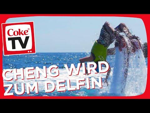 Flyboard Action mit Cheng und Irina | #CokeTVMoment